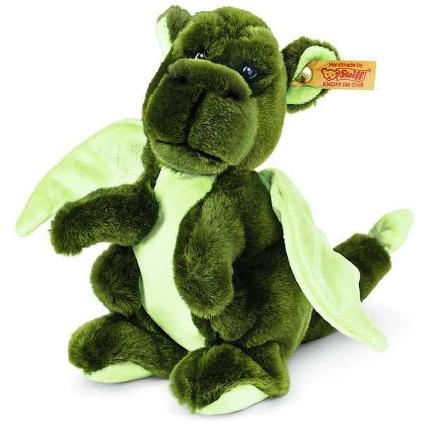 Steiff 015120 Kian Baby-Drache, Webpelz, 20 cm, grün, stehend