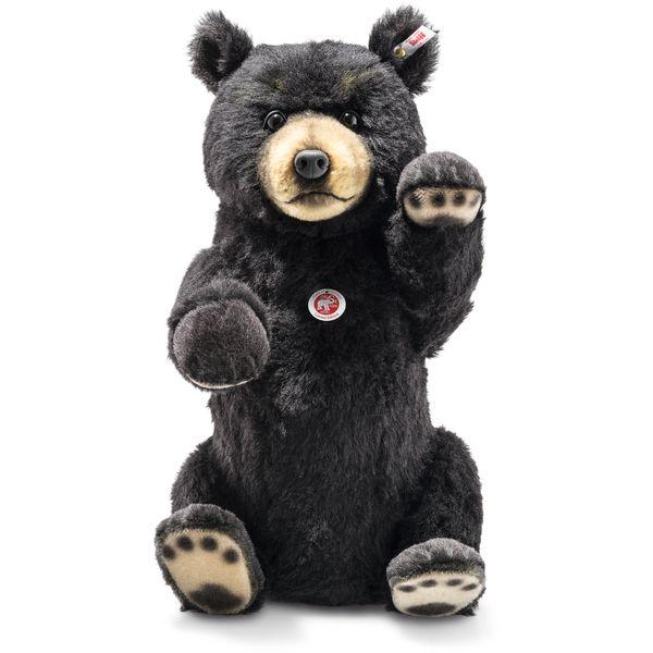 Steiff 021695 Schwarzbär, Alpaca, 50 cm, schwarz