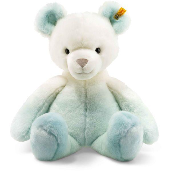Steiff 022692 Soft Cuddly Friends Sprinkels Teddybär, Plüsch, 40 cm, türkis/weiß
