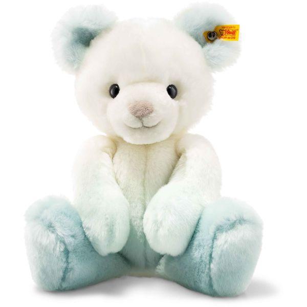 Steiff 022708 Soft Cuddly Friends Sprinkels Teddybär, Plüsch, 30 cm, türkis/weiß