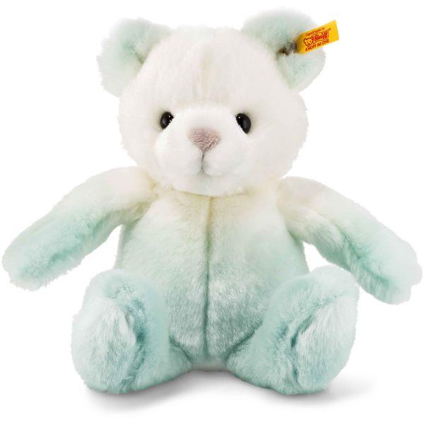 Steiff 022715 Soft Cuddly Friends Sprinkels Teddybär, Plüsch, 20 cm, türkis/weiß