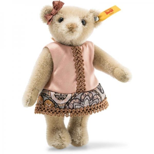 Steiff 026850 Vintage Memories Tess Teddybär in Geschenkbox, Mohair, 16 cm, graubraun