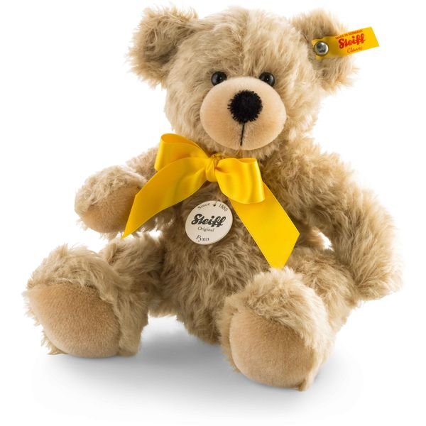 Steiff 028960 Fynn Teddybär, Mohair, 28 cm, hellbeige