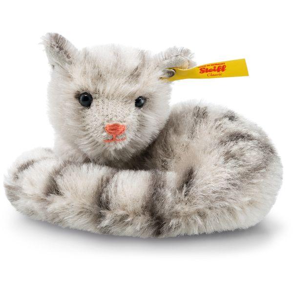 Steiff 033551 Mini Moggy Katze, Mohair, 9 cm, grau