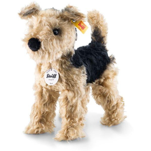 Steiff 033735 Terri Welsh-Terrier, Mohair, 26 cm, goldbraun/schwarz