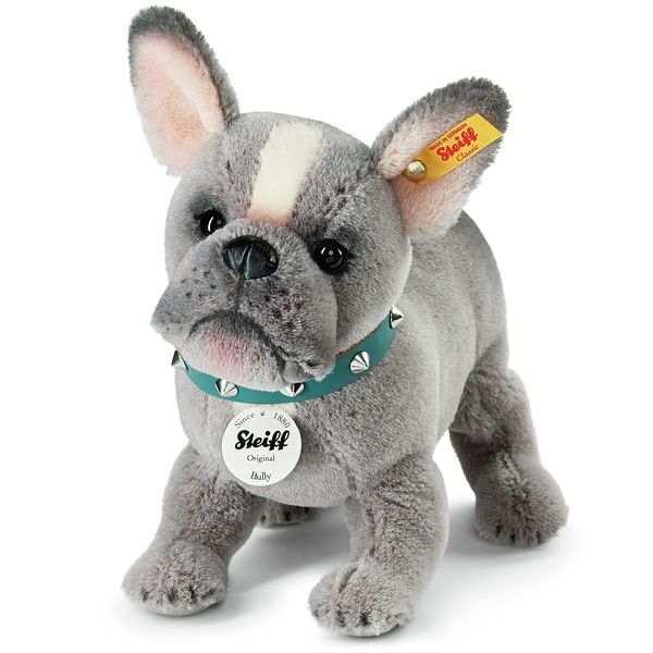 Steiff 036156 Bully Bulldoggen-Welpe, Alpaca, 24 cm, grau, stehend
