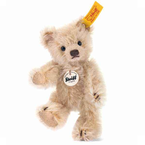 Steiff 040009 Classic Teddybär, 10 cm, Mohair, blond