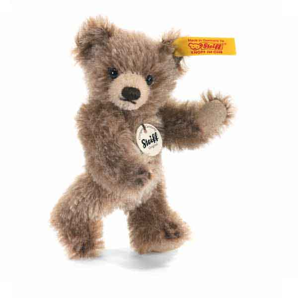 Steiff 040023 Classic Teddybär, 10 cm, Mohair, braun gespitzt