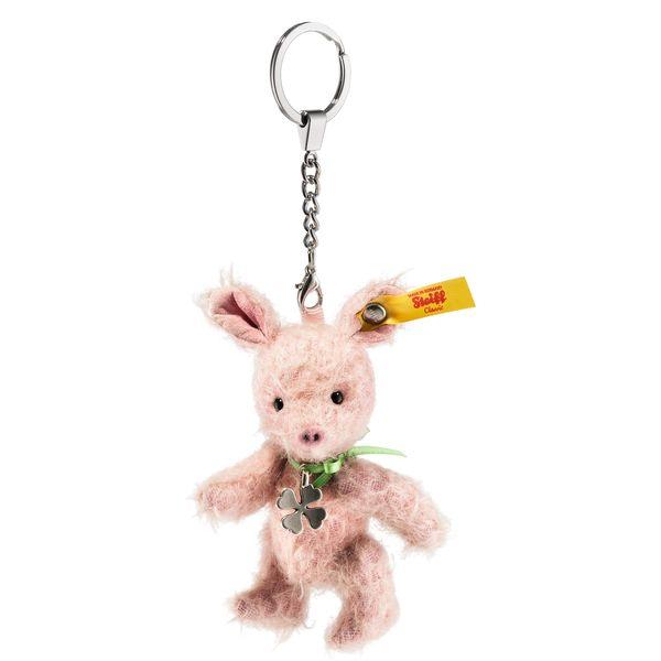 Steiff 040320 Anhänger Tiny Schwein, Mohair, 10 cm, rosa