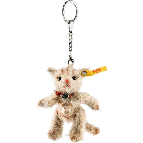 Steiff 040337 Anhänger Tiny Katze, Mohair, 10 cm, hellbeige
