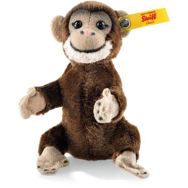 Steiff 040542 Jocko Schimpanse, Plüsch, 10 cm, braun