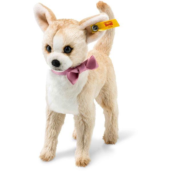 Steiff 045028 Chilly Chihuahua, Plüsch, 16 cm, beige/weiß