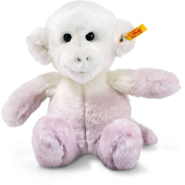 Steiff 060267 Soft Cuddly Friends Moonlight Affe, Plüsch, 20 cm, lila/weiß