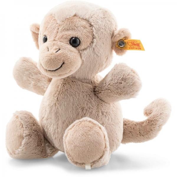 Steiff 064678 Soft Cuddly Friends Koko Affe, Plüsch, 22 cm, hellbraun