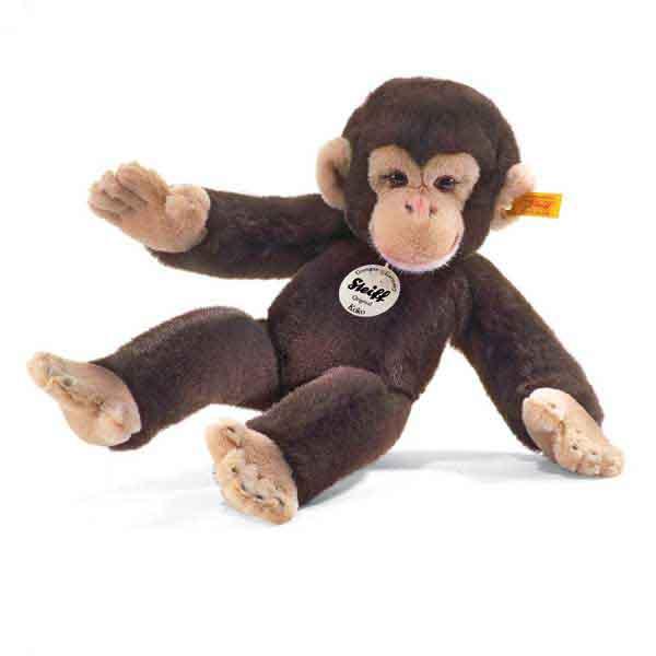 Steiff 064722 Koko Schimpanse, 35 cm, dunkelbraun