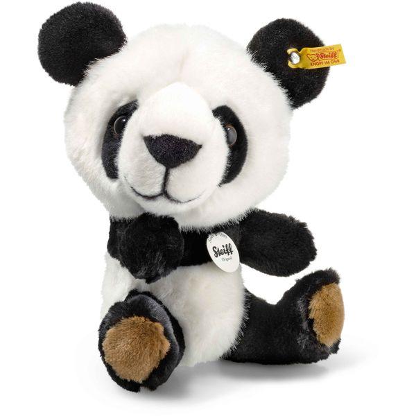 Steiff 064845 Tom Panda, Plüsch, 22 cm, weiß/schwarz