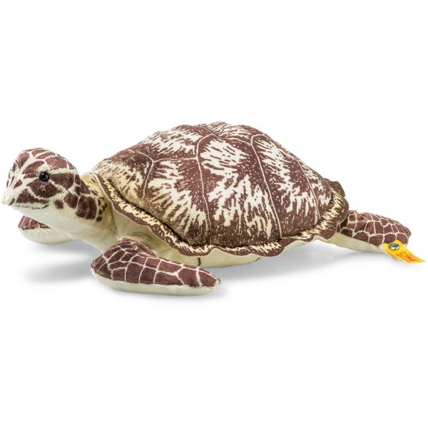 Steiff 068287 Protect Me Kari Karettschildkröte, Plüsch, 32 cm, beige/braun