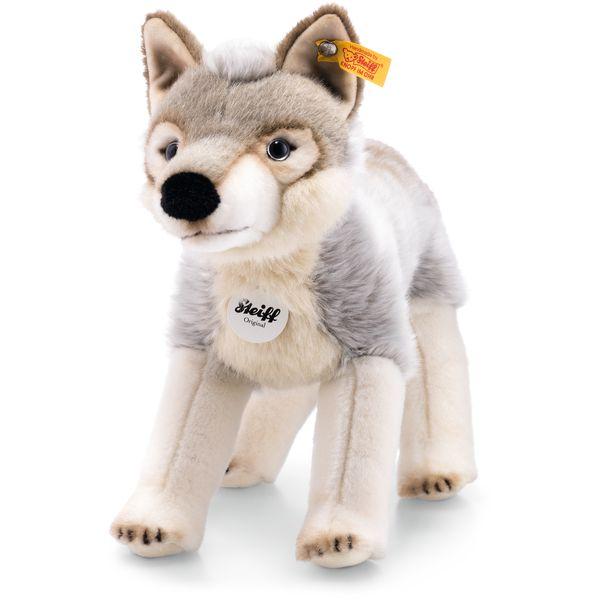 Steiff 069246 Snorry Wolf, Plüsch, 32 cm, grau/weiß