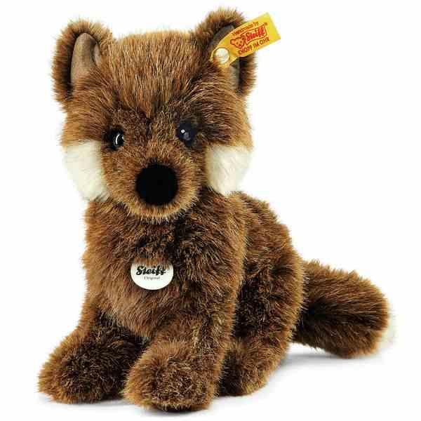 Steiff 070136 Fuxy Baby-Fuchs, Webpelz, 18 cm, braun, sitzend