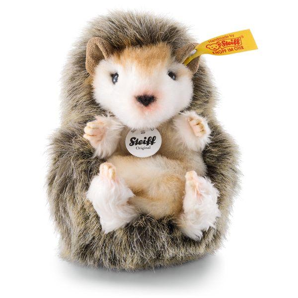 Steiff 070587 Joggi Baby-Igel, Webpelz, 10 cm, braun meliert