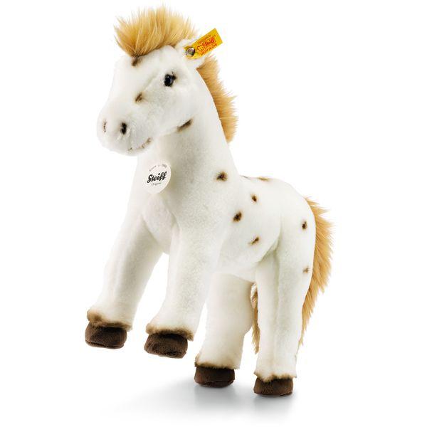Steiff 071287 Spotty Pferd, Plüsch, 30 cm, weiß/braun