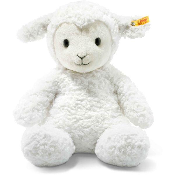 Steiff 073434 Soft Cuddly Friends Fuzzy Lamm, Plüsch, 38 cm, weiß