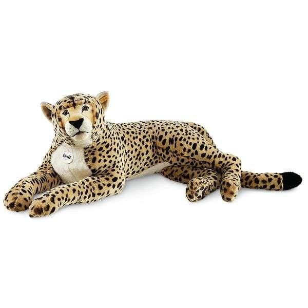 Steiff 075667 Cheetah Gepard, Plüsch, 80 cm, beige/braun, liegend