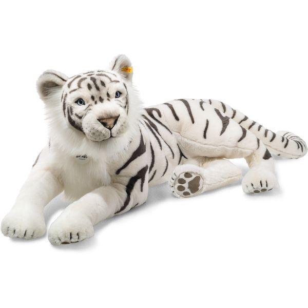 Steiff 075742 Tuhin, der weiße Tiger, Plüsch, 110 cm, weiß