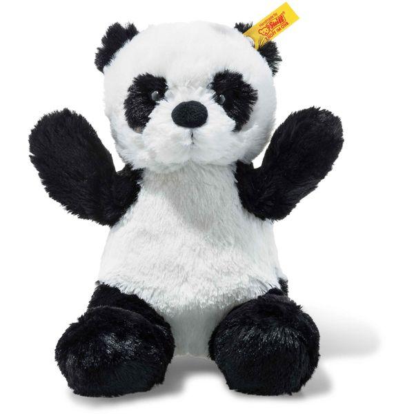 Steiff 075766 Soft Cuddly Friends Ming Panda, Plüsch, 18 cm, weiß/schwarz