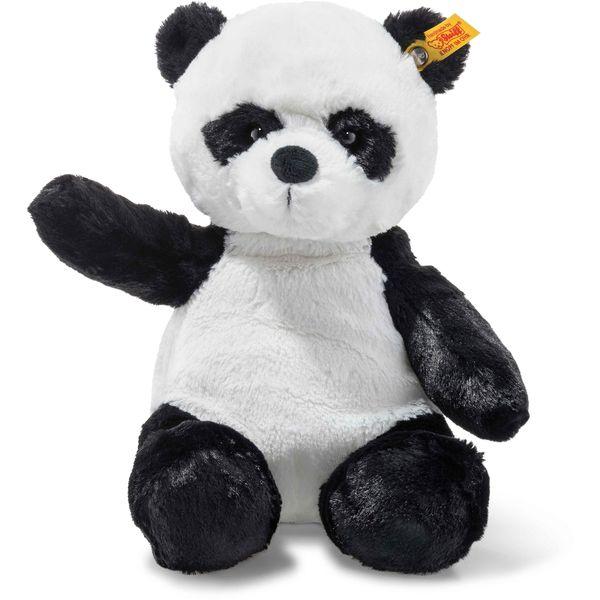 Steiff 075773 Soft Cuddly Friends Ming Panda, Plüsch, 28 cm, weiß/schwarz