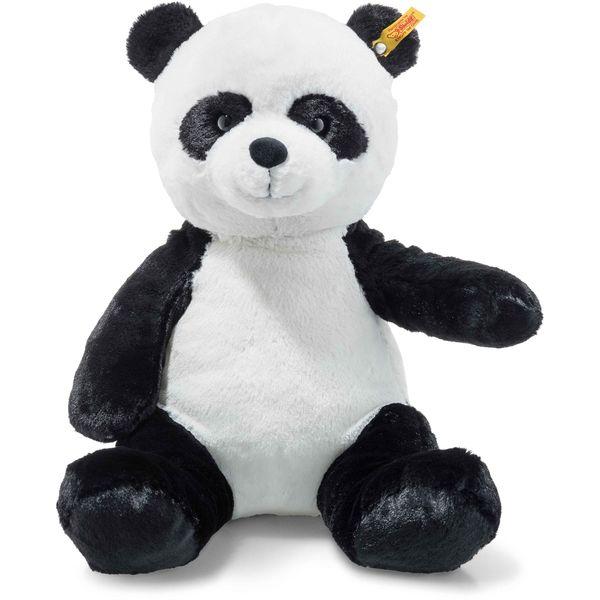 Steiff 075797 Soft Cuddly Friends Ming Panda, Plüsch, 38 cm, weiß/schwarz