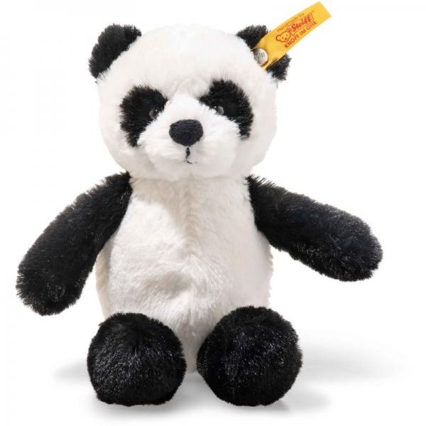 Steiff 075810 Soft Cuddly Friends Ming Panda, Plüsch, 16 cm, schwarz/weiß