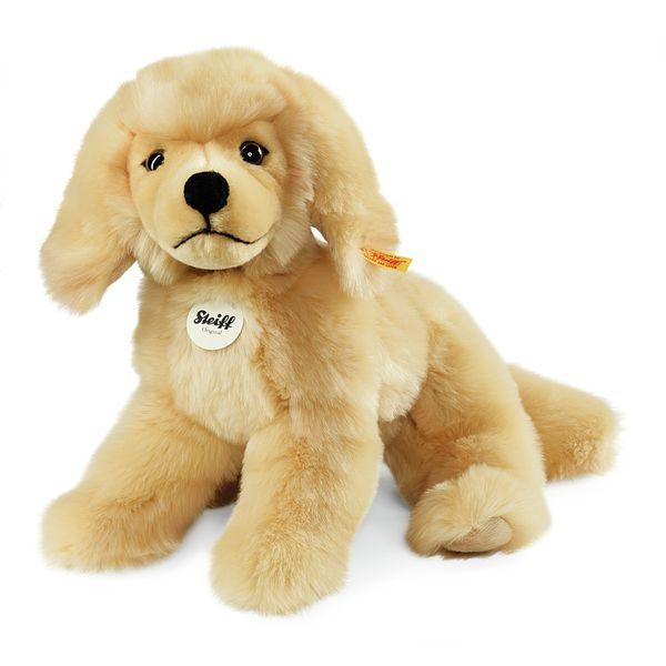 Steiff 076961 Lenni Golden Retriever, Plüsch, 28 cm, blond, liegend