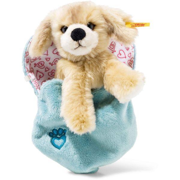 Steiff 077050 Kelly Hund im Herzbeutel, Plüsch, 15 cm, blond