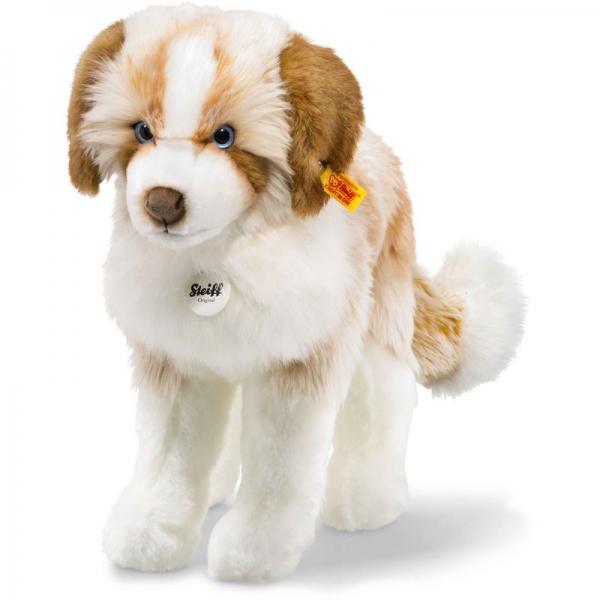 Steiff 079641 Cookie Hund, Plüsch, 38 cm, braun/weiß