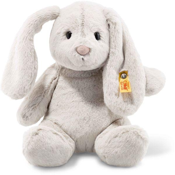 Steiff 080470 Soft Cuddly Friends Hoppie Hase, Plüsch, 28 cm, hellgrau
