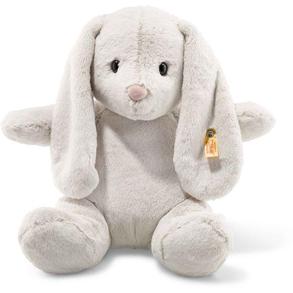 Steiff 080487 Soft Cuddly Friends Hoppie Hase, Plüsch, 38 cm, hellgrau