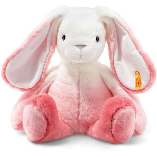 Steiff 080524 Soft Cuddly Friends Starlet Hase, Plüsch, 40 cm, pink/weiß