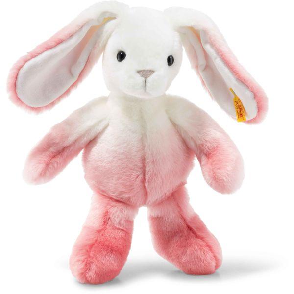 Steiff 080531 Soft Cuddly Friends Starlet Hase, Plüsch, 30 cm, pink/weiß