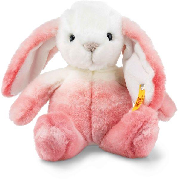 Steiff 080548 Soft Cuddly Friends Starlet Hase, Plüsch, 20 cm, pink/weiß