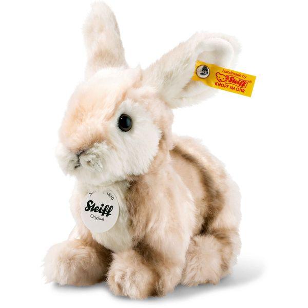 Steiff 080739 Melly Hase, Plüsch, 18 cm, blond gestromelt