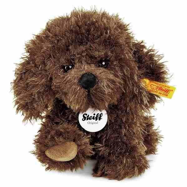 Steiff 083525 Timmy Hündchen, Plüsch, 17 cm, braun, sitzend