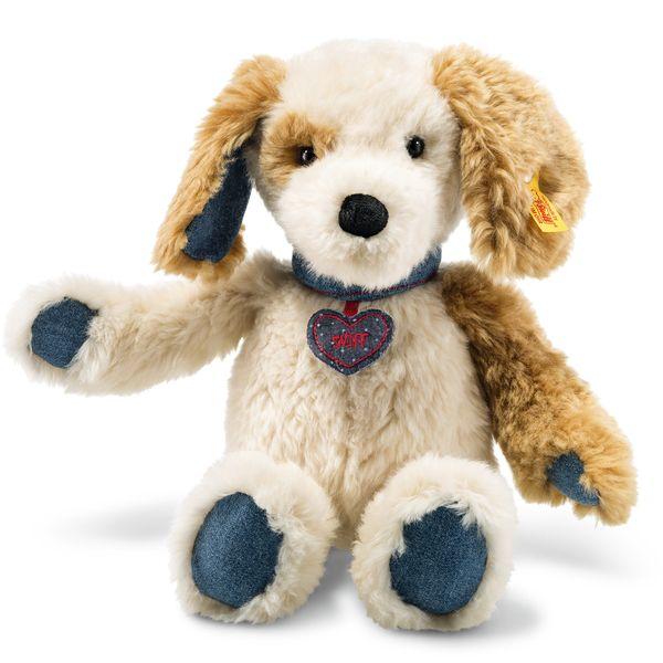 Steiff 084423 Denim Darlings Sniff Hund, Plüsch, 32 cm, creme