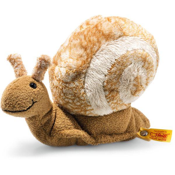Steiff 094415 Snailly Schnecke, Plüsch, 20 cm, beige/braun