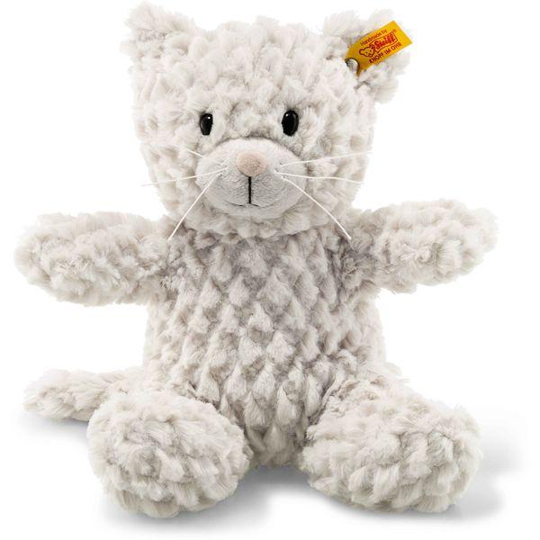 Steiff 099281 Soft Cuddly Friends Whiskers Katze, Plüsch, 28 cm, hellgrau
