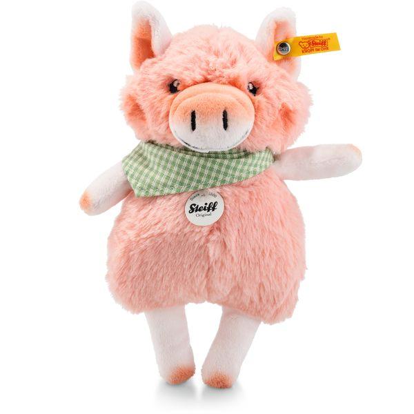 Steiff 103179 Happy Farm Mini Piggilee Schwein, Plüsch, 18 cm, rosa