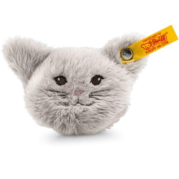 Steiff 109232 Magnet-Katze, Plüsch, 6 cm, grau