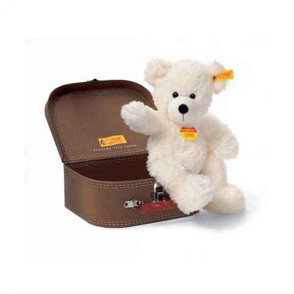 Steiff 111464 LOTTE Teddybär im Koffer, 28 cm