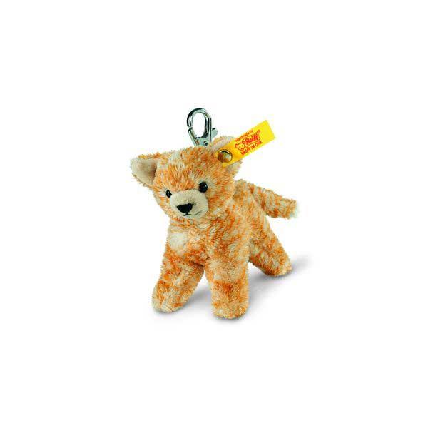 Steiff 112089 Schlüsselanhänger Katze, Plüsch, 10 cm, rot gestromelt