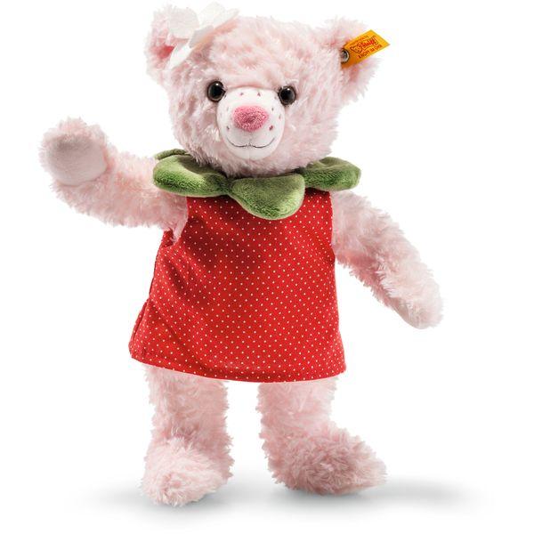 Steiff 113628 Picnic Friends Rose Strawbeary Teddybär, Plüsch, 28 cm, rosa